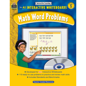 TCR3858 Interactive Learning: Math Word Problems Grade 5 Image