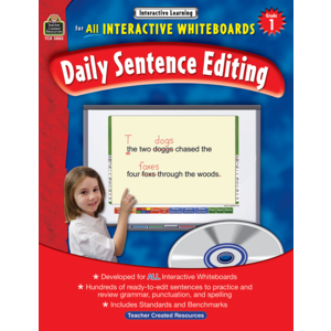 TCR3883 Interactive Learning: Daily Sentence Editing Grade 1 Image