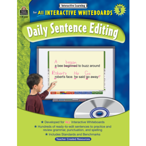 TCR3885 Interactive Learning: Daily Sentence Editing Grade 3 Image