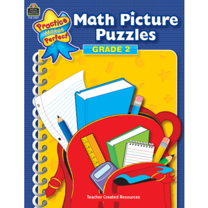 TCR3907 Math Picture Puzzles Grade 2                           Image