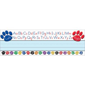 TCR4040 Paw Prints Left/Right Alphabet Name Plates (flat) Image