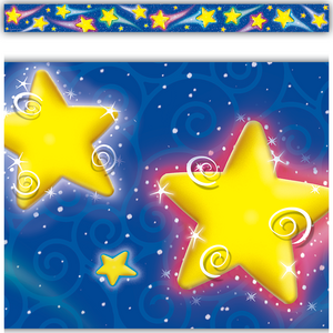 TCR4081 Shooting Stars Straight Border Trim Image