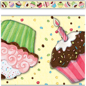 TCR4083 Cupcake Straight Border Trim from Susan Winget Image