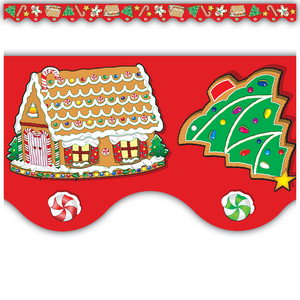 Christmas Scalloped Border Trim Image