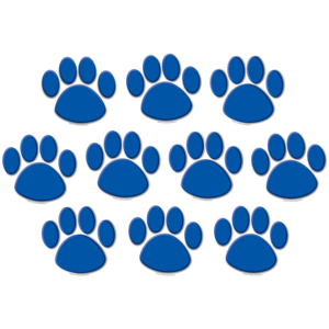 Blue Paw Prints Accents Image