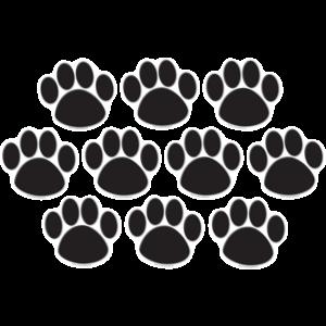 Black Paw Prints Accents Image