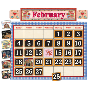 TCR4291 School Time Calendar Bulletin Board from Susan Winget Image