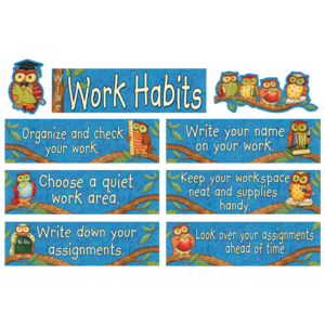 TCR4298 Wise Work Habits Mini Bulletin Board from Susan Winget Image