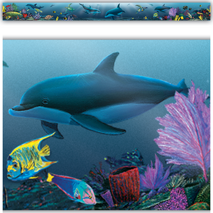 TCR4375 Ocean Life Straight Border Trim from Wyland Image