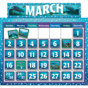 TCR4386 Classroom Calendar Bulletin Board from Wyland Image