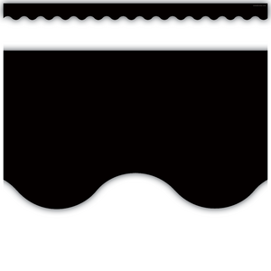 TCR4397 Black Scalloped Border Trim Image