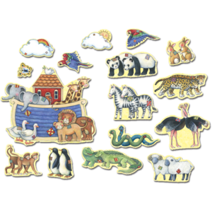 TCR4451 Noah's Ark Bulletin Board from Susan Winget Image