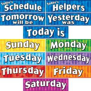 TCR4491 Days of the Week Headliners Image