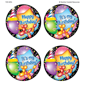 TCR4496 Happy Birthday Wear'Em Badges Image