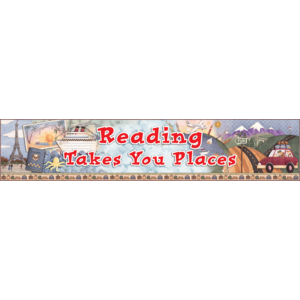 Reading Takes You Places Banner from Debbie Mumm Image