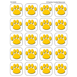 TCR4543 Gold Paw Prints Stickers Image