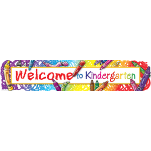 TCR4570 Welcome to Kindergarten Banner Image