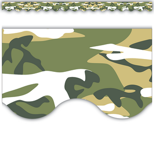 TCR4610 Camouflage Scalloped Border Trim Image