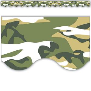 Camouflage Scalloped Border Trim Image