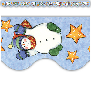 TCR4629 Snowmen Scalloped Border Trim from Susan Winget Image