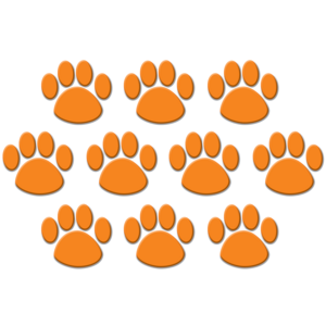 TCR4649 Orange Paw Prints Accents Image