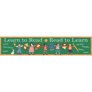 TCR4664 Learn to Read/Read to Learn Banner from Susan Winget Image