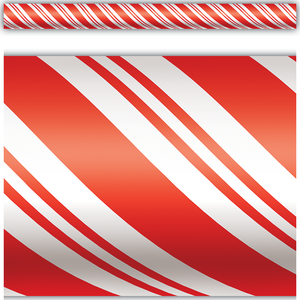 TCR4667 Candy Cane Straight Border Trim Image