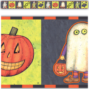 Halloween Border Straight Trim from Susan Winget Image