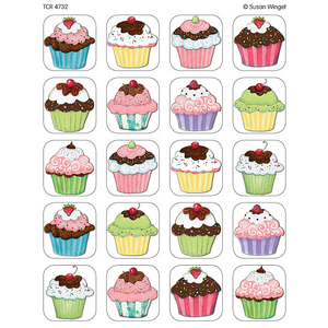 TCR4732 Cupcakes Stickers from Susan Winget Image