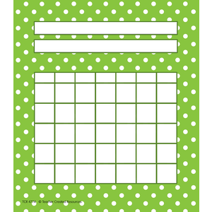 TCR4774 Lime Polka Dots Incentive Charts Image