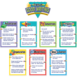 Traits of Good Writing Bulletin Board Display Set Image