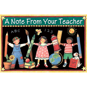 TCR4817 A Note From Your Teacher Postcards from Susan Winget Image
