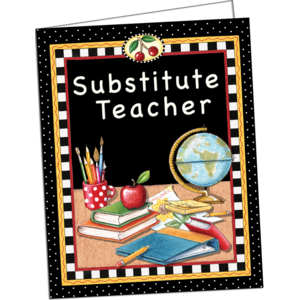 TCR4834 Substitute Teacher Pocket Folder from Mary Engelbreit Image