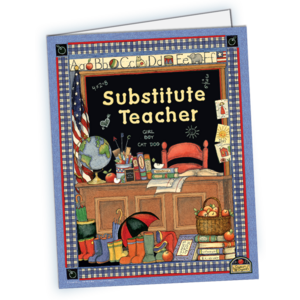 TCR4836 Substitute Teacher Pocket Folder from Susan Winget Image