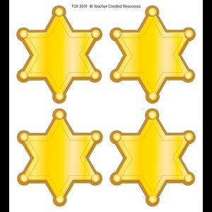 TCR5019 Western Sheriff Stars Wear'Em Badges Image
