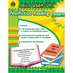 TCR5034 Daily Warm-Ups: Nonfiction Reading Grade 4 Image