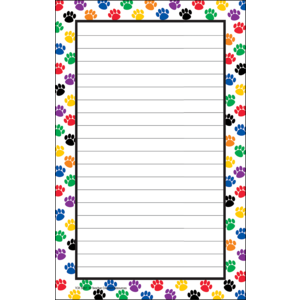 TCR5087 Colorful Paw Prints Notepad Image