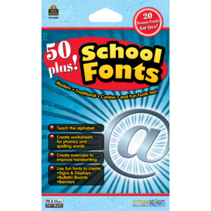 TCR5095 50 Plus School Fonts Image