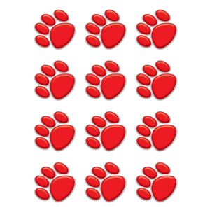 TCR5119 Red Paw Prints Mini Accents Image
