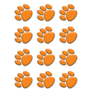 TCR5122 Orange Paw Prints Mini Accents Image