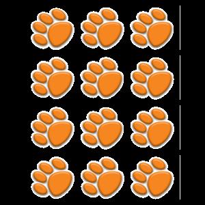 Orange Paw Prints Mini Accents Image