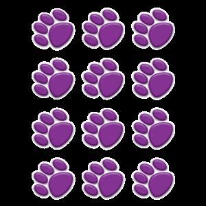 TCR5123 Purple Paw Prints Mini Accents Image