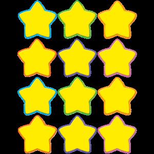 TCR5130 Yellow Stars Mini Accents Image
