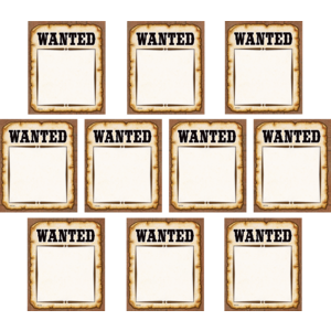 TCR5138 Western Wanted Posters Accents Image