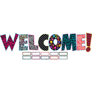 Fancy WELCOME Bulletin Board Display Set Image