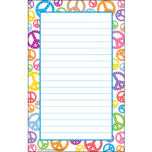 TCR5167 Peace Signs Notepad Image