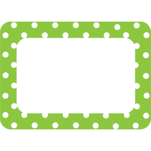 TCR5174 Lime Polka Dots 2 Name Tags/Labels Image