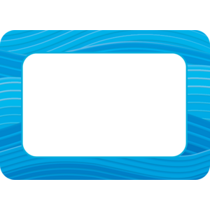 Blue Waves Name Tags Image