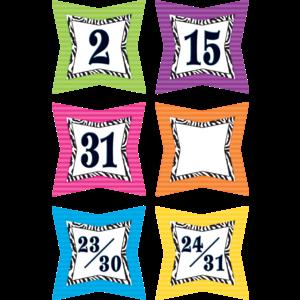 TCR5213 Colorful Zebra Prints Calendar Days Image