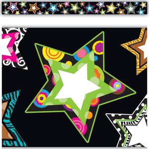 Fancy Stars Straight Border Trim Image